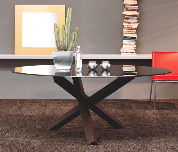 Tavoli In Cristallo Con Base In Legno.Tavoli Moderni In Legno Vendita Tavolo Moderno Design