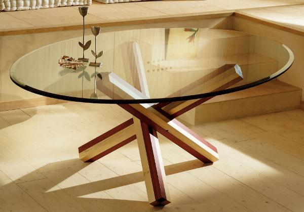 Tavolo in legno Tavolo Atene Tavolo con base in legno bicolore ...