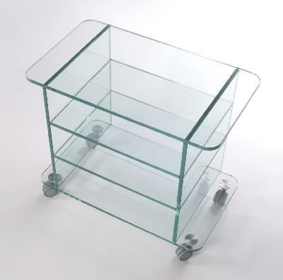 Carrelli porta tv in vetro porta tv just elegante carrello porta tv in cristallo temperato dallo - Mobili porta tv in vetro ...