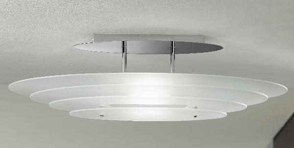Lampadari illuminazione lampade da soffitto in cristallo o vetro for Lampada bagno soffitto