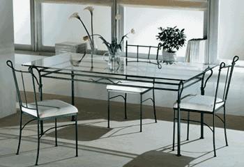 Tavolo in ferro forgiato a mano tavolo avior gradevole ed - Tavoli da pranzo ferro battuto e vetro ...