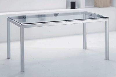 Tavolo cassiopea tavolo da pranzo moderno in metallo verniciato cromo di particolare effetto il - Tavolo pranzo cristallo ...