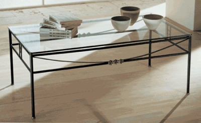 Tavoli da salotto classici tavoli in ferro battuto e - Tavoli da pranzo ferro battuto e vetro ...
