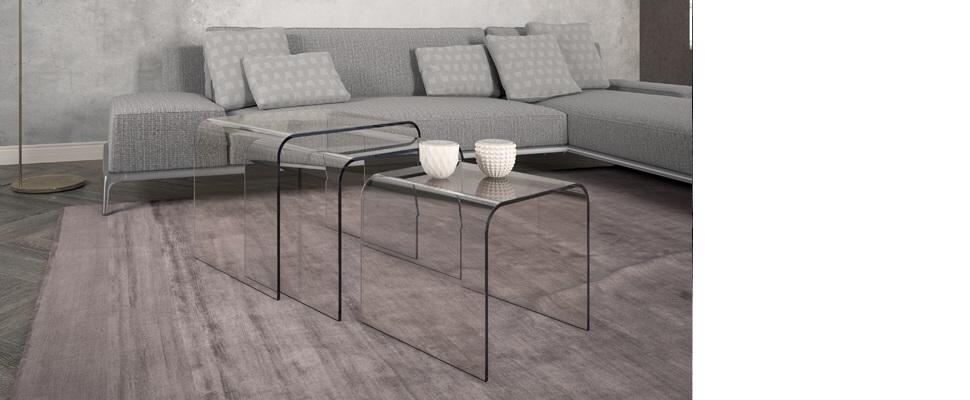 Tavolini in vetro i servetti in offerta prezzi imbattibili - Tris tavolini da salotto ...