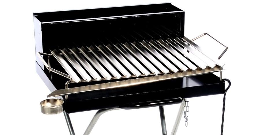 Barbecue a legna con griglia raccogli sugo offerte barbecue for Griglia per barbecue bricoman