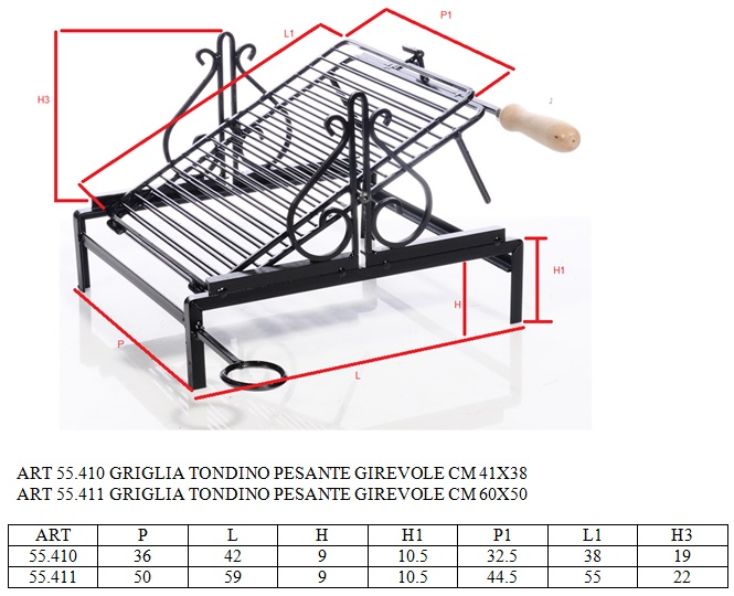 dimensioni della Griglia per barbecue dimensioni