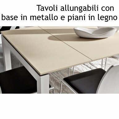 Tavolo Allungabile Moderno Cristallo.Tavoli Allungabili Moderni Acquista On Line Il Made In Italy