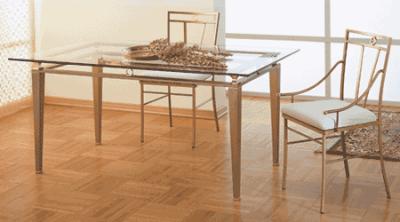 Tavoli da pranzo in vetro e ferro battuto idee creative di interni e mobili - Tavoli da pranzo classici ...