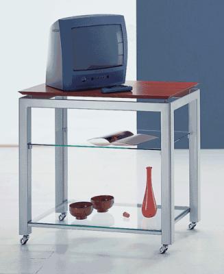 Carrelli porta tv in ferro porta tv cassiopea porta tv in metallo verniciato cromo il carrello - Carrello porta tv ikea ...