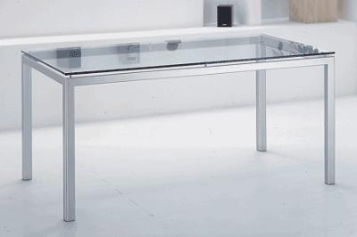 Tavolo cassiopea tavolo da pranzo moderno in metallo for Tavoli pranzo cristallo