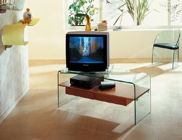 Consolle Porta Tv Vetro.Porta Tv In Vetro Tube Cm 120 X 35 X H 38