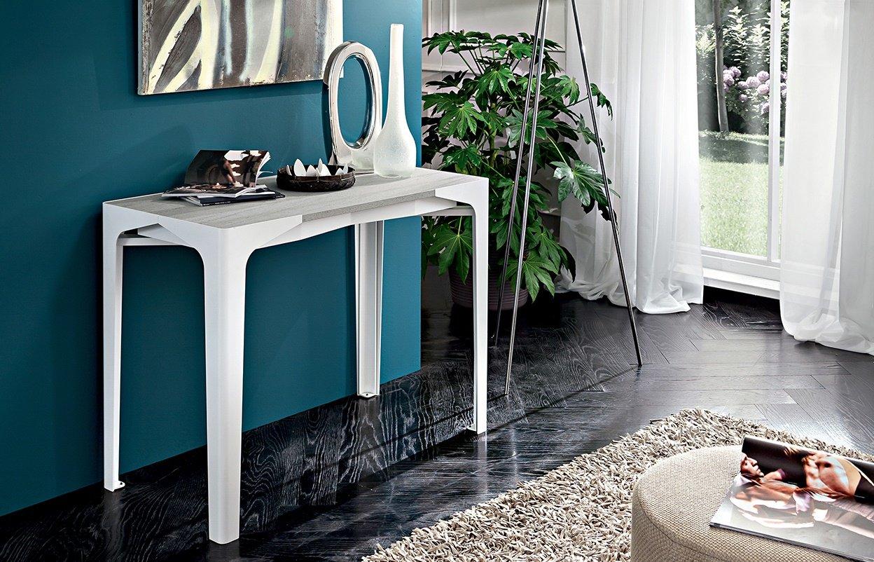 Tavolo Con Gamba Centrale Allungabile consolle allungabile a tavolo. fabio 100 x 50 x h.75
