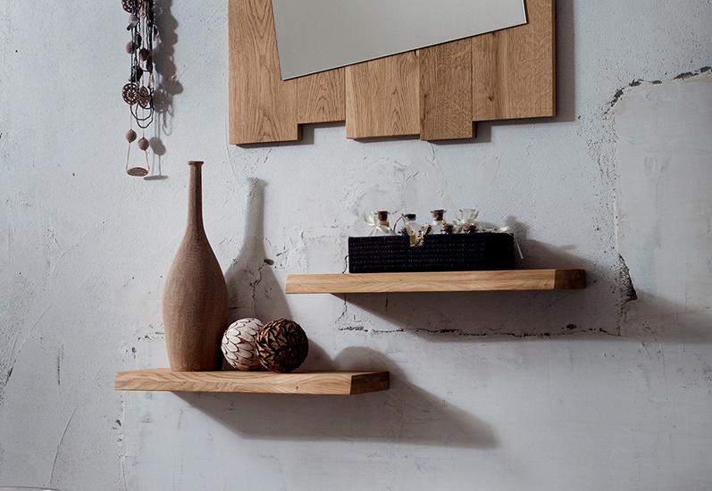 Mensole su misura da parete in legno di rovere Zoe nel 2020