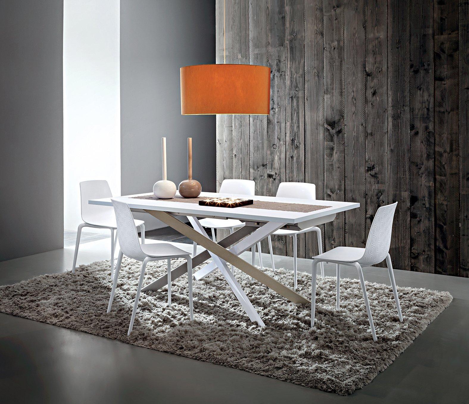 Sala da pranzo Tavolo Renzo piano in legno Fenix Bianco