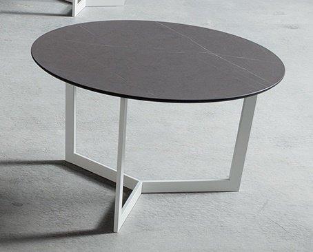 Tavolino Da Salotto Moderno Prezzi.Tavolino Da Salotto Moderno Clio Bianco Tobacco O60 H 36