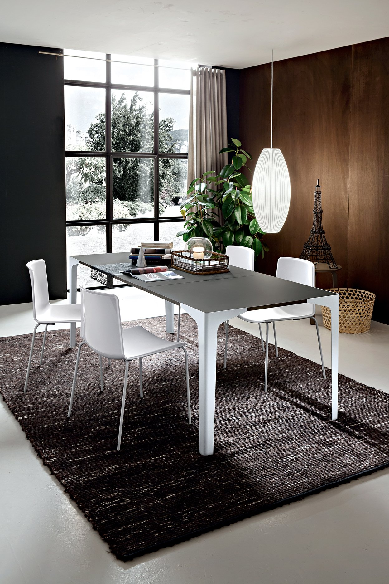 Dimensioni Tavolo Sala Da Pranzo tavolo sala da pranzo ettore fenix grigio londra gambe bianco