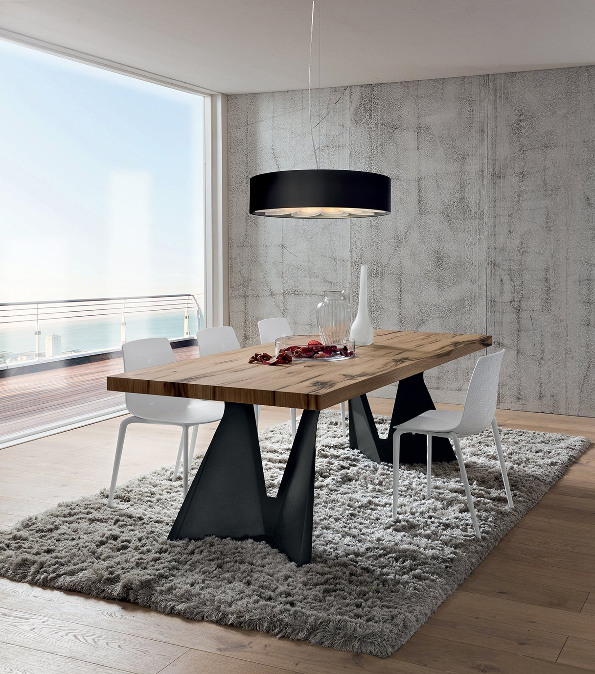 Tavolo sala da pranzo Claudio Cm 200 x 100 Rovere Antico