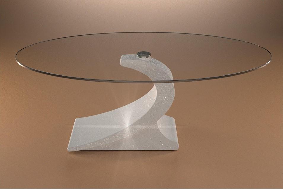 Tavolo In Cristallo Con Base In Marmo.Tavolo In Marmo Da Salotto Ciclope Art 547 A