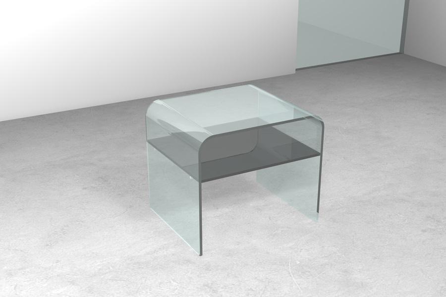 Ripiano In Vetro Per Tavolo.Tavolino Ponte Singolo Con Ripiano Tavolino Da Salotto In Vetro Con