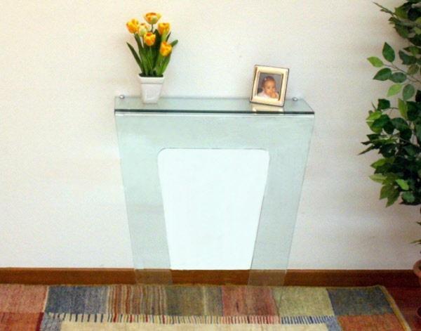 Tavolo consolle in vetro tavolo consolle in vetro anna for Tavolo cristallo calligaris prezzo