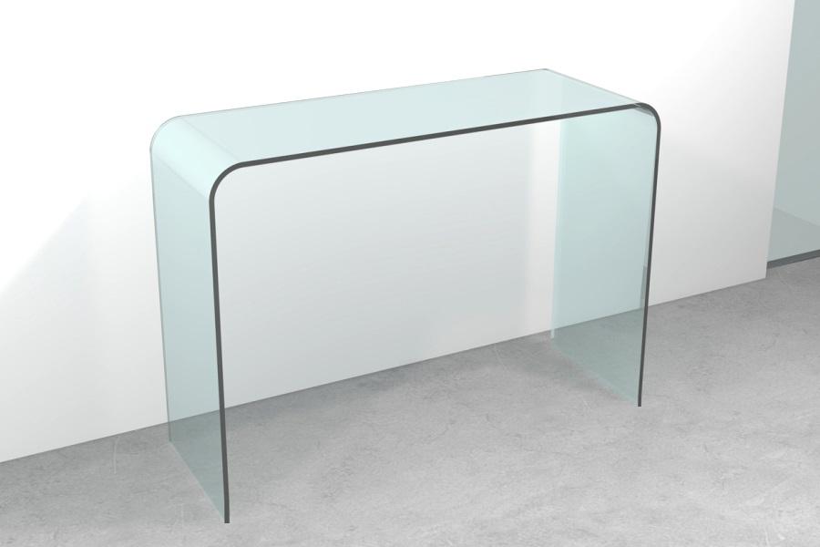 Consolle vetro ponte tavolo consolle vetro ponte cm 120 x for Consolle in vetro