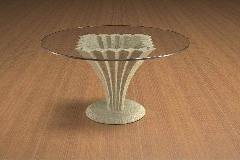 Arredamento tavolo Tavolo 464 Tavolo in agglomerato di marmo ...