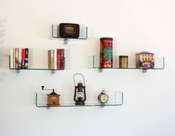 Mensole mensola cristallo vendita mensole parete mensole for Arredamento mensole a parete