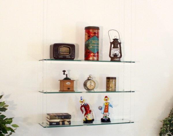 Mensola in vetro Set. 3 Pz. mensole Swing Kit di tre mensole in ...
