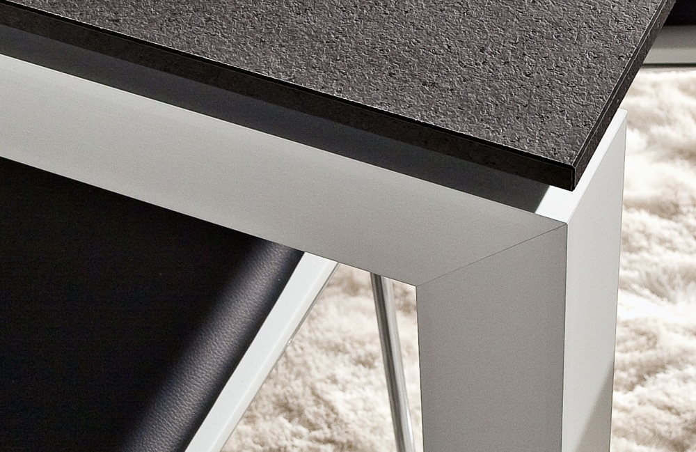 Gambe Alluminio Per Tavoli.Tavolo Luca Allungable 80