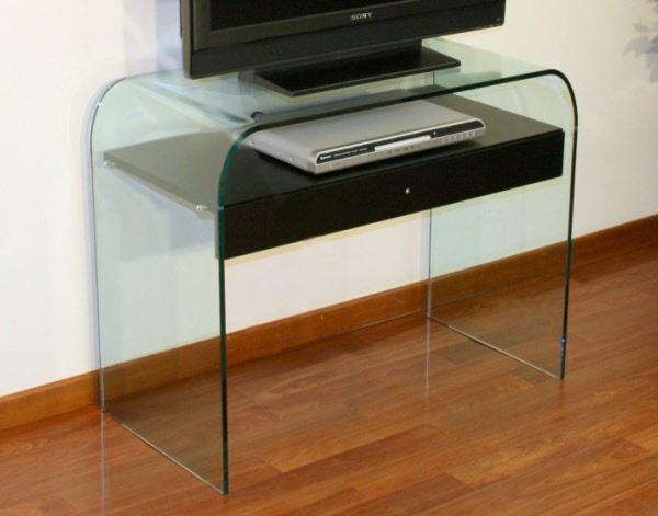 Porta TV vetro Porta TV Alessandra Elegante porta TV in cristallo ...