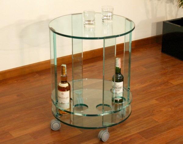 Arredamento carrello portaliquori in vetro porta liquori - Carrello porta liquori ...