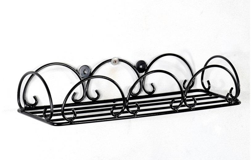 Fioriera in ferro battuto portavaso a muro balconetta for Portavasi in ferro