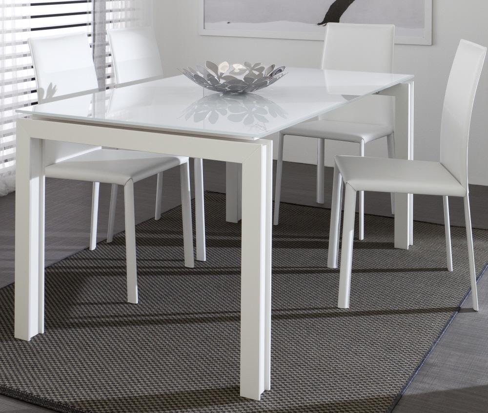 Tavolo da pranzo allungabile in legno tavolo giovanni tavolo da salotto con piano in vetro - Salotto con tavolo da pranzo ...