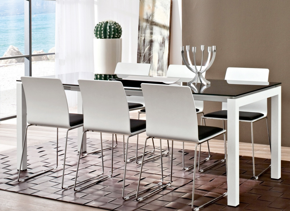 Sala da pranzo tavolo per sale da pranzo moderne worldcasa - Sale da pranzo contemporanee ...