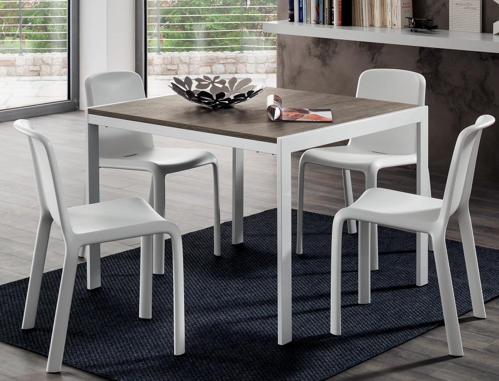 Tavolo lino allungabile con piano in legno tavolo da salotto for Tavolo quadrato