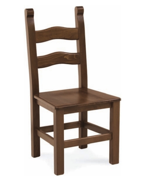 Sedia Rustica Paesana seduta in legno