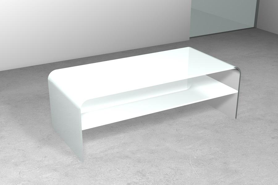 Ripiano In Vetro Per Tavolo.Tavolino In Vetro Ponte Con Ripiano