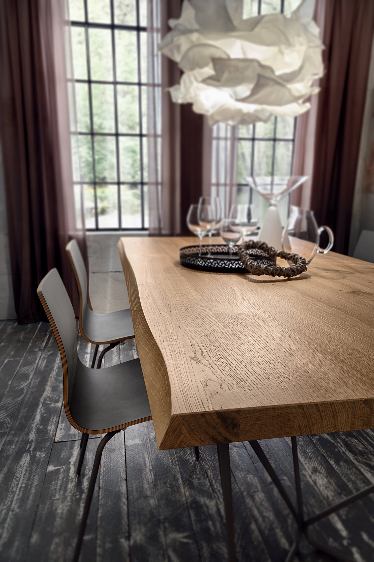 Tavolo sala da pranzo Denis Rovere scortecciato La Primavera