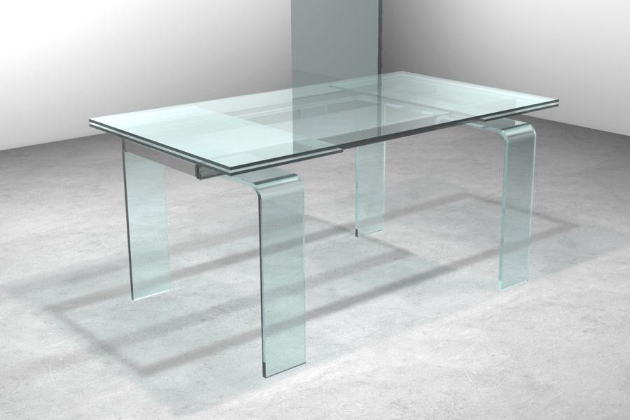 Porta legno con vetro scorrevole esterno muro bricoman for Tavoli di cristallo allungabili