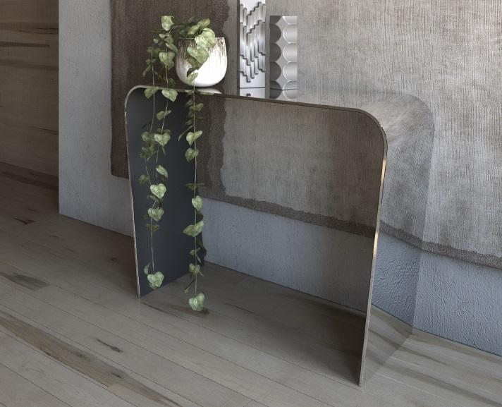 Tavolo consolle gambe oblique tavolo consolle in vetro for Consolle vetro