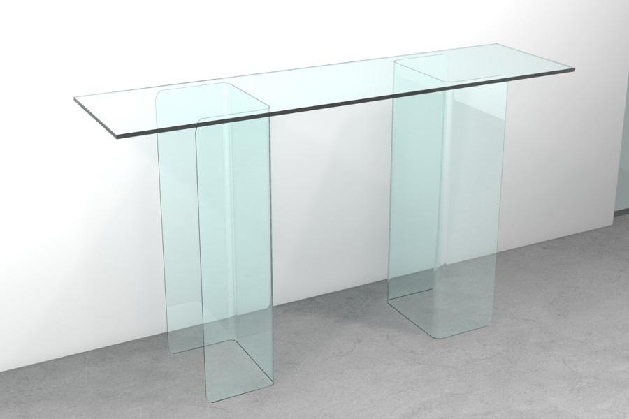 Ingresso consolle in vetro consolle in vetro doppia c for Consolle vetro