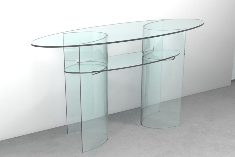 Tavolo consolle prezzi economici consolle in vetro con for Consolle in vetro