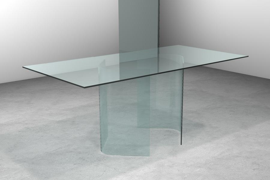 Arredamento tavolo in vetro arianna arredamento tavolo da pranzo in cristallo - Tavolo pranzo cristallo ...
