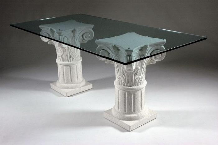 Tavolo in agglomerato di marmo tavolo in marmo 847 - Base per tavolo cristallo ...