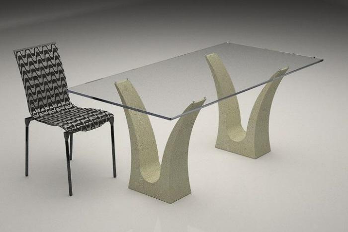 Tavolo in marmo 3e8 tavolo in agglomerato di marmo for Tavolo effetto marmo