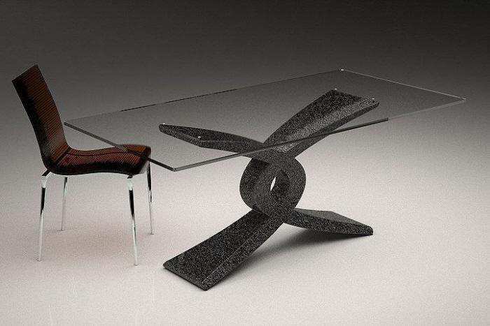 Tavolo in marmo 843 tavolo in agglomerato di marmo for Tavolo effetto marmo