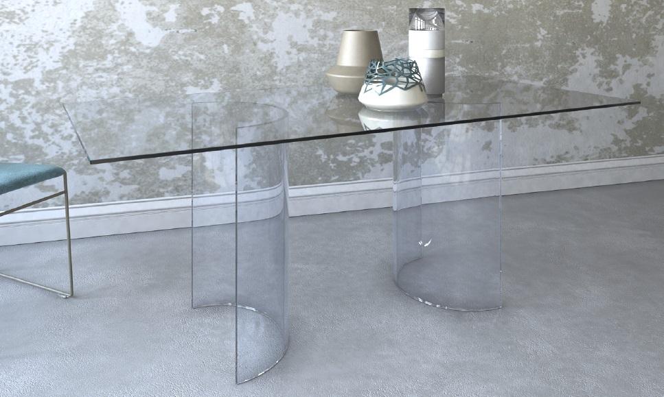 Tavolo in vetro vendita tavolo vetro tavolo vetro moderno - Runner per tavolo in vetro ...