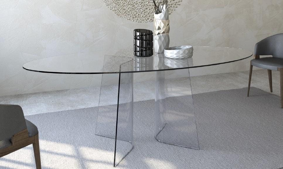 Tavolo cristallo tavoli n cristallo vetro prezzi e offerte for Tavolo di cristallo
