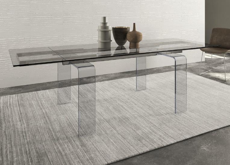 Tavoli in vetro allungabili tavolo vetro allungabile prezzo for Tavolo allungabile vetro trasparente