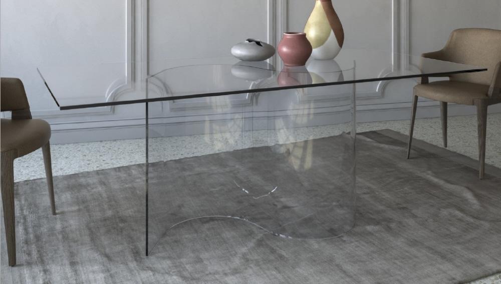 Tavolo vetro vendita tavoli cristallo moderno prezzi sconti for Tavolo vetro satinato